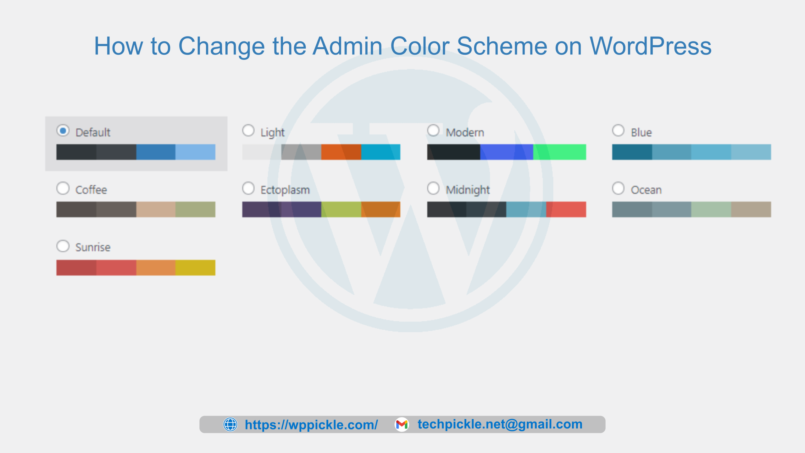 How to Change the Admin Color Scheme on WordPress