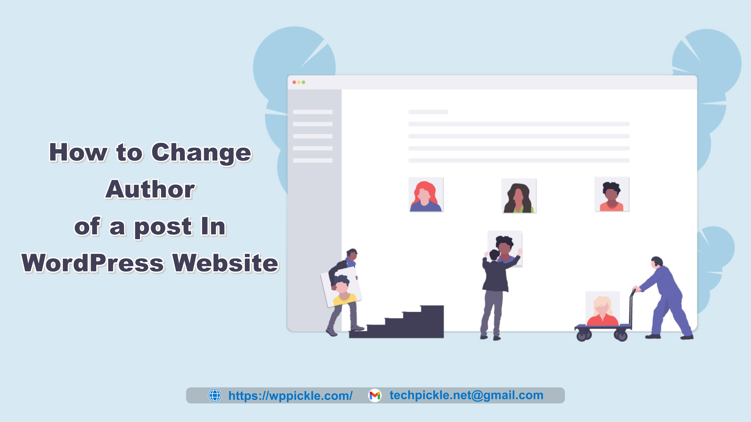 How to Easily Change the Author of a post on WordPress website